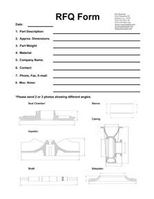 RFQ Form - ITT ProCast